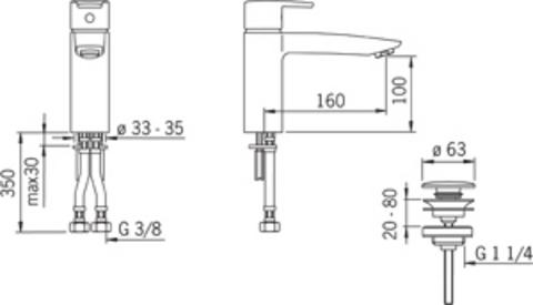 2805F Oras Cubista смеситель для раковины