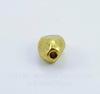 """Бусина металлическая """"Грани"""" (цвет - античное золото) 7х5 мм, 10 штук"""