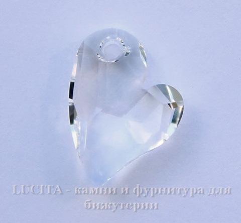 6261 Подвеска Сваровски Сердечко Crystal  (17 мм) ()