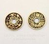 "Коннектор (1-3) TierraCast ""Монета"" (цвет-античное золото) 18 мм"