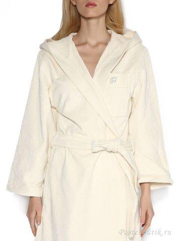 Элитный халат махровый Crociera молочный от Blumarine