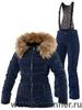 Тёплый горнолыжный костюм Joline Navy Poppy женский