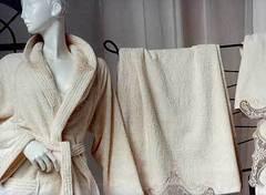 Полотенце 100х150 Lady Laura Anastasia бежевое