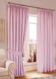 Готовая штора. Мягкая портьера из двухцветной тафты Листопад (пыльная роза)