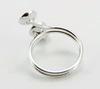 Основа для кольца с 3 площадками 8 мм (цвет - платина) ()
