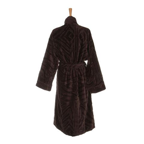 Элитный халат-кимоно велюровый Zebrona коричневый от Roberto Cavalli