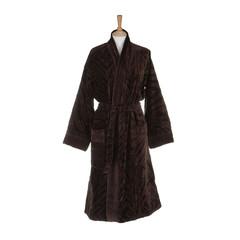 Халат-кимоно велюровый Roberto Cavalli Zebrona коричневый