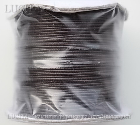 Шнур вощеный, 1 мм, цвет - коричневый, примерно 85 м ()