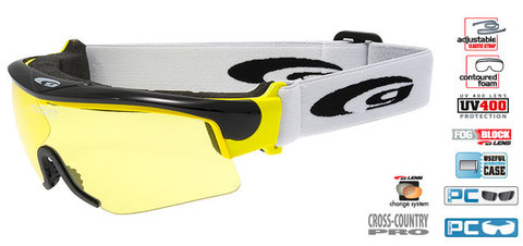 Очки-маска goggle линия PROVO black/yellowОчки-маска goggle линия PROVO black/yellow