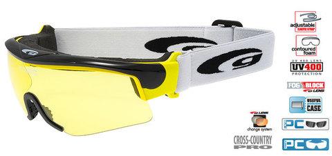 Очки-маска goggle линия PROVO black/yellow