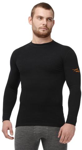 Термобелье Рубашка Norveg Classic с длинным рукавом чёрная