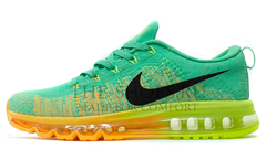 Кроссовки Мужские Nike Air Max 2014 Flyknit Green Orange