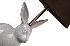Элитная лампа настольная Алиджо Кролик серая от Sporvil
