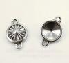 """Сеттинг - основа - коннектор TierraCast """"Грани"""" (1-1) для страза 10 мм (цвет-античное серебро)"""