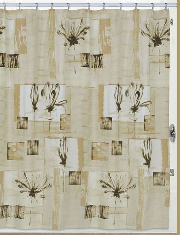 Элитная шторка для ванной Botanical Collage от Creative Bath