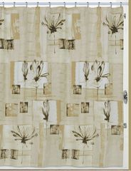 Шторка для ванной 183x183 Creative Bath Botanical Collage