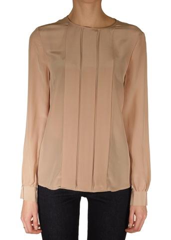 Блуза из шелка. Цвет пудровый/серый M MISSONI