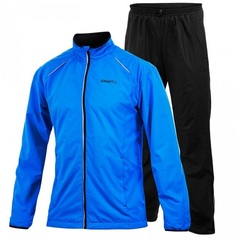 Мужской костюм для бега Craft Active Run Wind Black blue (1902212-2336)