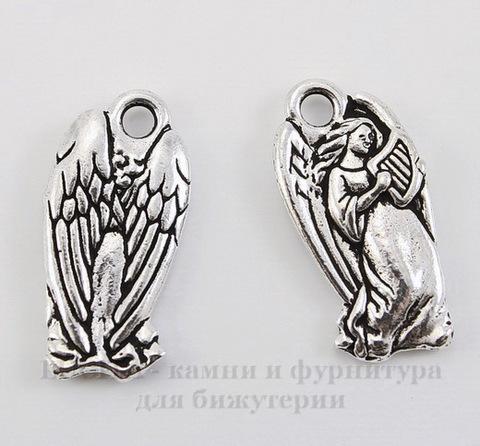 "Подвеска TierraCast ""Ангел"" (цвет-античное серебро) 22х11 мм"