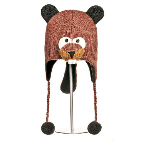 шапка с ушами Knitwits Barkley the Beaver