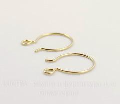 Швензы-крючки TierraCast 19х14 мм (цвет-золото), Gold filled 14K, пара