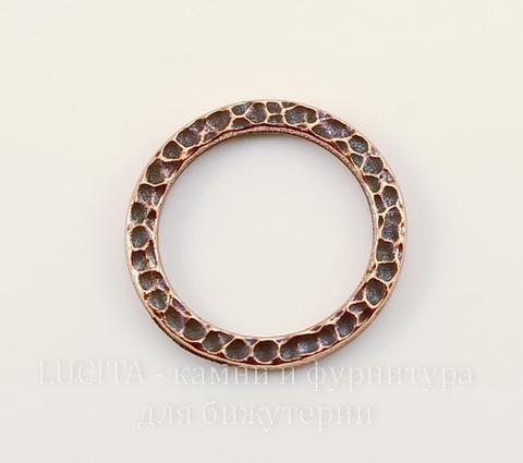 """Коннектор - кольцо TierraCast """"Hammertone"""" (цвет-античная медь) 19 мм"""