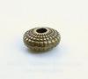 Бусина металлическая - рондель - спейсер (цвет - античная бронза) 8х4 мм, 10 штук
