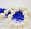 Бусина Перламутр (тониров), шарик, цвет - белый, 10 мм