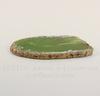 Подвеска Срез Агата (тониров) (цвет - зеленый) 75х34х5 мм №56
