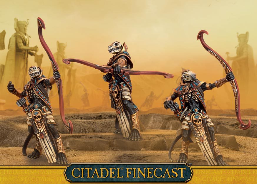 Tomb Kings Ushabti with Great Bows