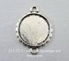 Сеттинг - основа - коннектор (1-1) для кабошона 16 мм (цвет - античное серебро)