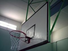 Щит баскетбольный игровой фанерный 18 мм, 1800х1050мм. на металлической раме
