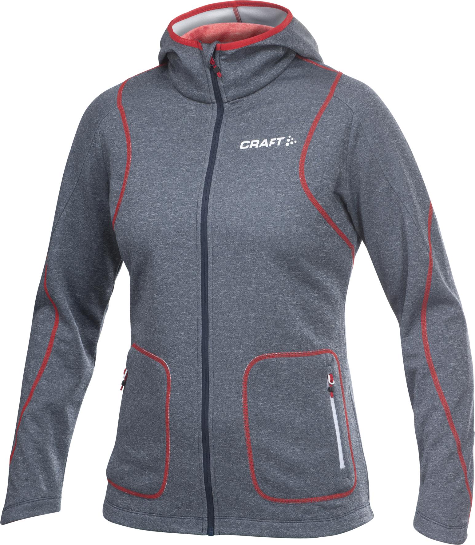 Толстовка Craft Active Hood Zip женская темно-синий 1901675-2395
