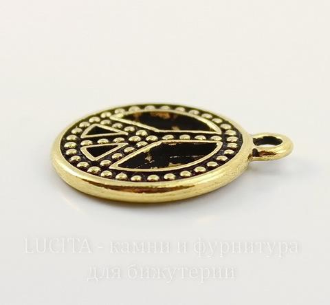 "Подвеска TierraCast ""Пацифик"" (цвет-античное золото) 23х20 мм"