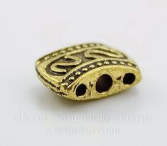 Разделитель на 3 нити (цвет - античное золото) 11х8х5 мм