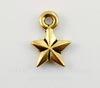 "Подвеска TierraCast ""Звезда"" (цвет-античное золото) 11х8 мм"