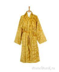 Элитный халат велюровый Zebra Gold золотой от Roberto Cavalli