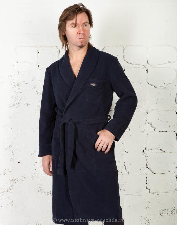 Вельветовый мужской халат B&B (Мужские халаты)