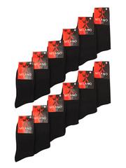 MILANO носки мужские 41-47 (12шт.) черные