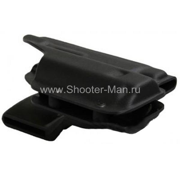 Кобура пластиковая, полицейская для пистолета Ярыгина, с ЛЦУ Клещ Стич Профи