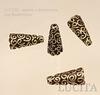 Шапочка - конус для бусины с узором 18х9х9 мм (цвет - античная бронза) ()