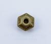 Бусина металлическая с гранями (цвет - античная бронза) 5х3 мм, 10 штук