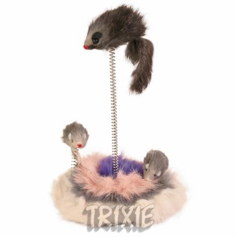 """Trixiе 4070 Игрушка д/кошек """"мышки на подставке на пружине"""" 30см"""