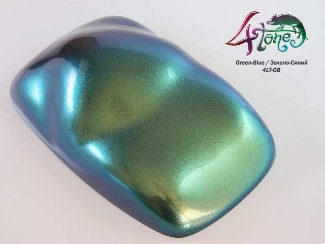 Краска Bugtone 4Tone Green-Blue хамелеон зелено-синий крупная зернистость,прозр.120мл