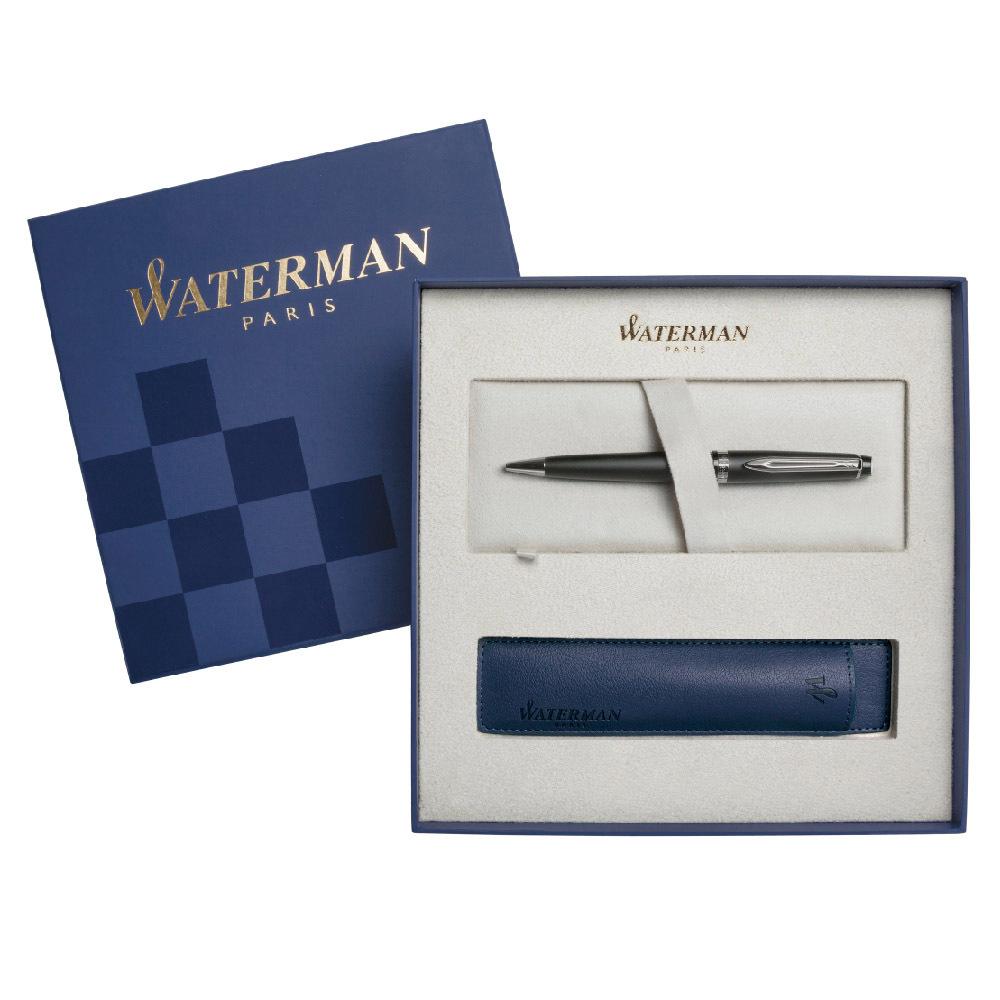 Набор подарочный Waterman Expert - Matte Black, шариковая ручка, M + чехол