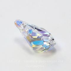 6015 Подвеска Сваровски Polygon Drop Crystal AB (17 мм)