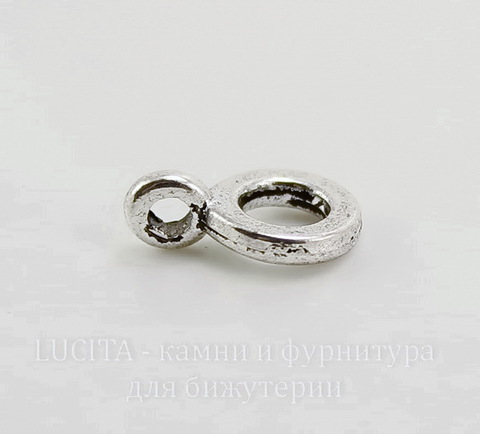 Бейл (цвет - античное серебро) 13х9 мм, 5 штук