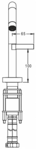 Jacob Delafon Stillness высокий cмеситель для раковины E985-4-CP