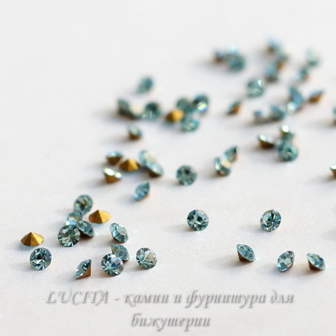 1028 Стразы Сваровски Aquamarine PP 15 (2,1-2,2 мм), 10 штук