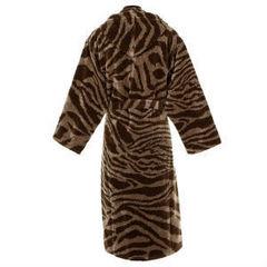 Элитный халат велюровый Zebra коричневый от Roberto Cavalli